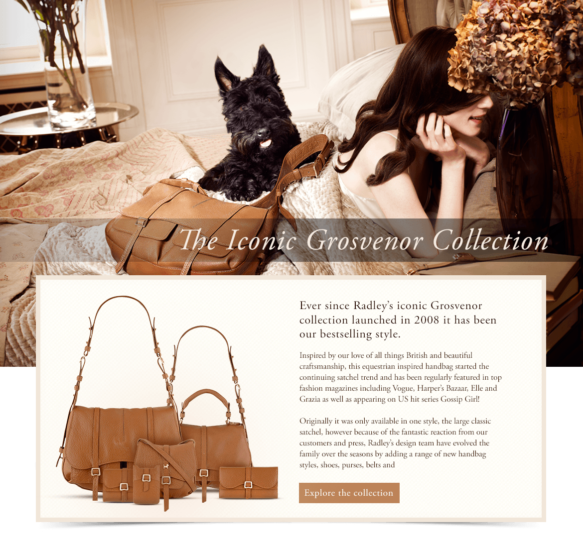 Radley Web Design & Art Direction - Grosvenor Collection