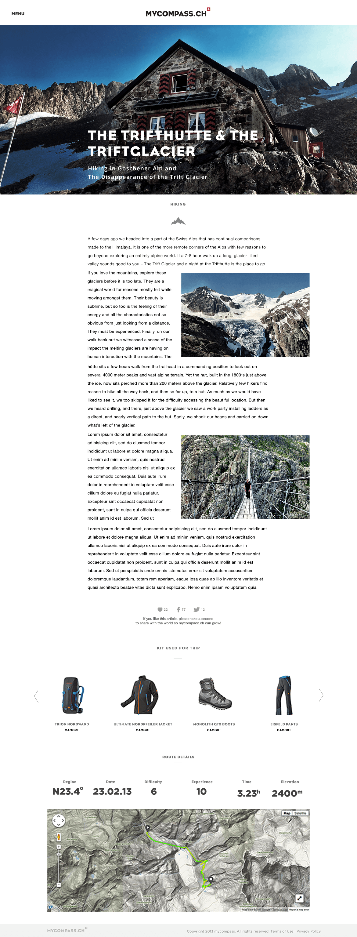 myCompass Outdoor & Adventure blog - Web Design & Brand Identity - Blog post
