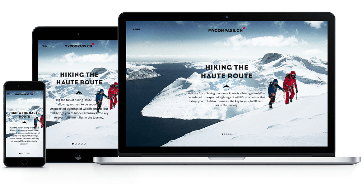 myCompass Outdoor & Adventure blog - Web Design & Brand Identity - Web comp